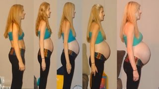 getlinkyoutube.com-Pregnancy Time Lapse of Baby Klaire!