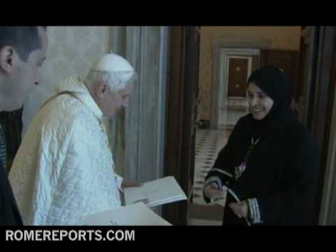 Benedicto XVI recibe la embajadora de los Emiratos rabes Unidos