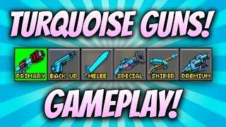 getlinkyoutube.com-Pixel Gun 3D - Turquoise Weapon Gameplay!