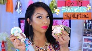 getlinkyoutube.com-Top 10 Favorite Highlighters | Collab with BeautyByDamaris