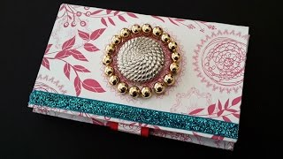 getlinkyoutube.com-DIY Project : How to Make Beautiful Paper Purse Using Cardboard | Card Holder