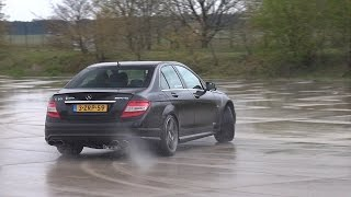 getlinkyoutube.com-Mercedes-Benz C63 AMG w/ iPE Exhaust! Drifts, Burnouts & More!