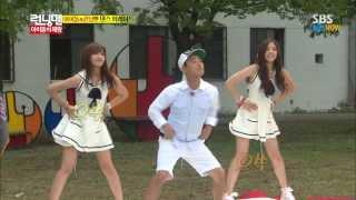 getlinkyoutube.com-SBS [런닝맨] - 아이돌의 제왕 A pink(은지,나은) Cut