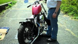getlinkyoutube.com-kick starting my 76 ironhead bobber final video of spark plug check and adjustments
