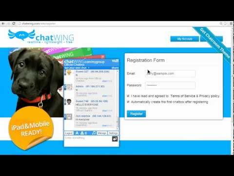Skype Chat Room site móvel
