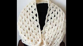 getlinkyoutube.com-Crochet : Bufanda Infinita #4 (Andrea)