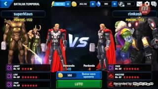 Marvel future fight Groot vs thor
