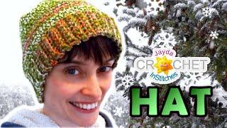 getlinkyoutube.com-Crochet Hat Tutorial - Easy Perfect Fit Pattern!