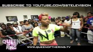 "getlinkyoutube.com-VAGUE & BABS present ""QUEEN OF THE RING"" PHARA FUNERAL  -vs- NORMA BAYTS RD 1"