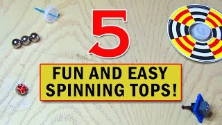 getlinkyoutube.com-5 Fun and Easy SPINNING TOYS You Can Make!