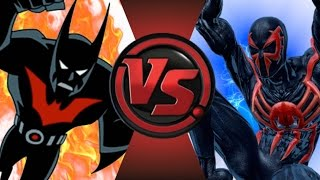 getlinkyoutube.com-BATMAN BEYOND vs SPIDER-MAN 2099! Cartoon Fight Club Episode 32