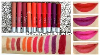 getlinkyoutube.com-Revlon Colorburst Matte Balm + Lip Swatches - Review 2014