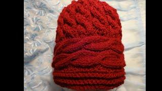 getlinkyoutube.com-Вязание женской шапки (шапочки) спицами
