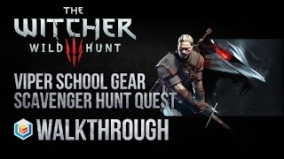 getlinkyoutube.com-The Witcher 3 Wild Hunt Walkthrough Viper School Gear Scavenger Hunt Quest Guide Gameplay/Let's Play