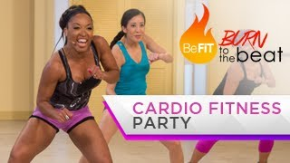 getlinkyoutube.com-Cardio Fitness Party Workout: Burn to the Beat- Keaira LaShae