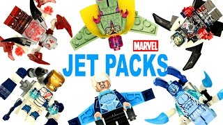 getlinkyoutube.com-LEGO Marvel Super Heroes Jet Pack KnockOff Mini Kits w/ Electro Iron Legionaire Vision Quicksilver
