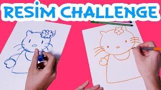 getlinkyoutube.com-Ege ve Mira ile Çizim Yarışması | Hello Kitty ve Pikaçu | UmiKids