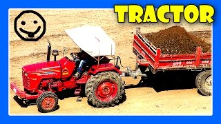 getlinkyoutube.com-Tractors For Children - Tractor Videos, Tractors Working, Excavator Truck Digging by JeannetChannel
