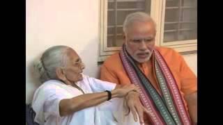 Prime Minister Narendra Modi visits his mother on birthday