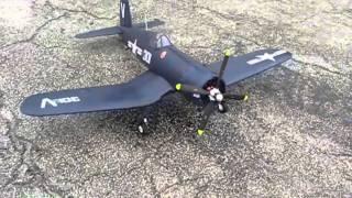 Nitroplanes RC F4U Corsair ~ Maiden Flight