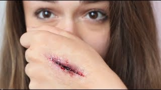getlinkyoutube.com-Special Effects Makeup: Stab Wound