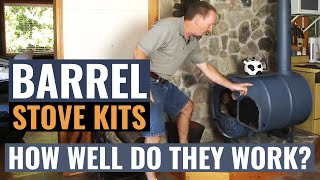 getlinkyoutube.com-Barrel Stove Kits - How Well Do They Work?