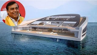 मुकेश अंबानी ने खरीदा पानी पर चलता फिरता महल   Mukesh Ambani' Luxury Yacht width=