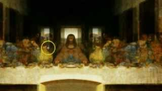 getlinkyoutube.com-★ iLLuminati Last Supper Painting of Jesus - Mirrored / inverted - Leonardo Davinci - FULLY EXPOSED