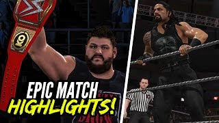 getlinkyoutube.com-WWE 2K17 Roadblock 2016 Roman Reigns vs. Kevin Owens | Epic Match Highlights!