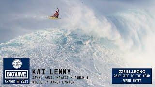 getlinkyoutube.com-Kai Lenny at Jaws 1 - 2017 Billabong Ride of the Year Entry - WSL Big Wave Awards