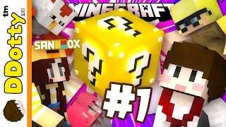 getlinkyoutube.com-복불복 달리기!! [달려달려: 럭키블럭 레이스 #1편] 마인크래프트 Minecraft - Lucky Block Race - [도티]
