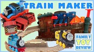 getlinkyoutube.com-Thomas and Friends Train Maker - Mega Bloks Castle Gates Thomas The Great Race - Finding Dory Hank