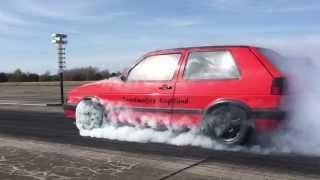 VW Golf Mk2 R33 Turbo 4motion 1000+HP Speedmakers - Vogtland Turboscheune Test & Tune 12.04.2015
