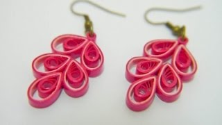 Beautiful Quilling paper Earring designs making methods   Earrings Making video