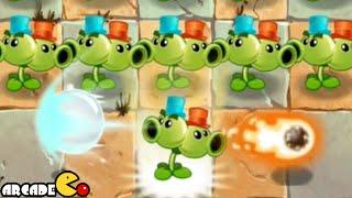 getlinkyoutube.com-Plants Vs Zombies 2 Kung World: Far Future New Costume Split Pea (China IOS Version)