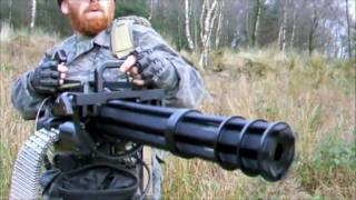 "getlinkyoutube.com-M134 MINIGUN ""THE FORT"" AIRSOFT WAR Scotland"