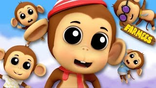 Five Little Monkeys Jumping On The Bed | English Rhymes | Preschool Songs