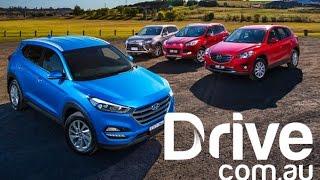 getlinkyoutube.com-Hyundai Tucson v Mazda CX-5 v Ford Kuga v Mitsubishi Outlander Comparison | Drive.com.au
