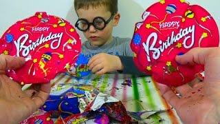 getlinkyoutube.com-Шарики-хлопушки пакетики лопаются Balloons firecrackers surprise bag of confetti