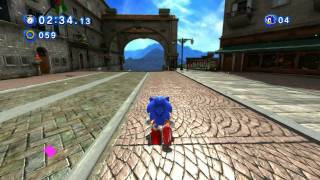 getlinkyoutube.com-Classic Sonic in Modern Rooftop Run (Sonic Generations)