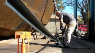 getlinkyoutube.com-DIY Roller Bending Angle Iron