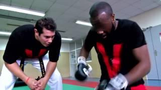 Jr O Chrome & Maitre Gims en plein entrainement de MMA