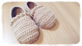 getlinkyoutube.com-How to crochet a slippers (1/3) ルームシューズの編み方 by meetang
