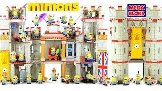getlinkyoutube.com-Despicable Me Minions Castle Adventure Mega Bloks w/ Kevin Stuart & Bob Speed Build