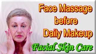 getlinkyoutube.com-Facial Skin Care - Face Massage before applying the Daily Makeup
