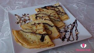 getlinkyoutube.com-Crepes Au Chocolat  / تحضير كريب بالشوكولا واللوز مداق لا يقاوم