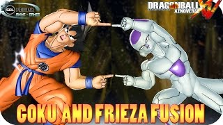 getlinkyoutube.com-Fusion Goku and Frieza VS Ultra Perfect Cell - Dragon Ball Xenoverse mod