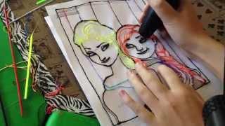 getlinkyoutube.com-3doodler Creations! (House, Cat, Elsa and Anna from Frozen)