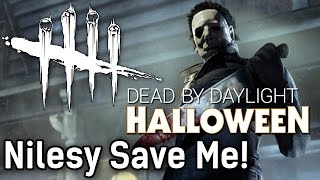getlinkyoutube.com-Nilesy Save Me! | Dead by Daylight Survivor with HybridPanda and Nilesy