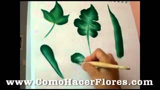 getlinkyoutube.com-Tipos de hojas para plantas de como pintar flores